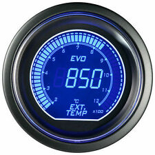 52mm Autogauge Digital EVO EGT Gauge RED/BLUE LED Exhaust Gas Temperature Gauge