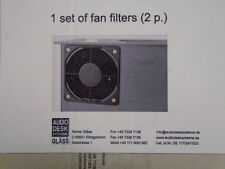 1 Pair Set of Fan Filters Audio Desk Vinyl Cleaner FOR Record Vacuum CLEANER