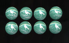Teal / White BIRD Silhouettes-Dresser Drawer Knobs - 8