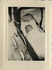 PHOTO ANCIENNE - VINTAGE SNAPSHOT - ENFANT LANDAU DORMIR SOMMEIL -CHILD SLEEPING
