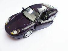 porsche 911 in purple with open doors and silver grey interior no res free p&p