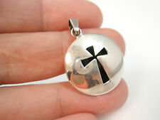 sterling silver 925 taxco mexico vintage cross Shadow Box pendant