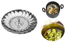 Imperdibile cestello cesto apribile cuoci riso verdure a vapore dietetica inox