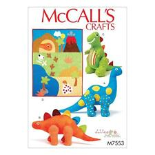 McCALL'S SEWING PATTERN CRAFTS DINOSAUR TOYS & QUILT M7553