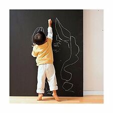 "Chalkboard Black Vinyl Wrap Adhesive Decal Contact Paper 17.9"" x 60"" DIY Roll"