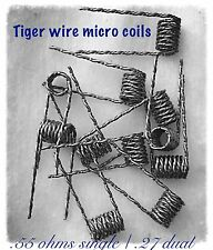 (30) Tiger Wire Coils (Claptons Rda Twisted Coils Vape Coils) + Organic Cotton