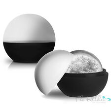 Set of 2 XL Sphere Round Ice Ball Maker - Large Silicone Whiskey / Jelly Mould