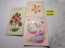 3 VINTAGE GREETING CARDS FOR EASTER & MOTHER 1950'S SCRAPBOOKING CRAFTS