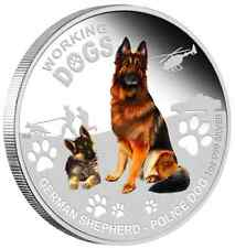 PERTH MINT - 2011 WORKING DOGS - GERMAN SHEPHERD - SILVER PROOF COIN