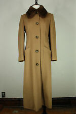 Cinzia Rocca coat jacket 4 wool cashmere angora mink fur beige made in italy