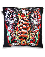 SIREN SEA TATTOO MERMAID NAUTICAL CUSHION PILLOW COVER LIQUOR BRAND ROCKABILLY