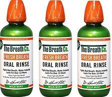 3 x il respiro Co Fresco Respiro Orale Risciacquo 500 ML Menta dolce (alito cattivo)