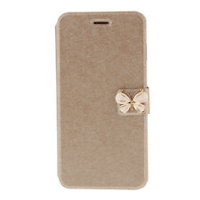Luxury Diamond Butterfly Gold Leather Flip Case for iPhone 6/6S Plus