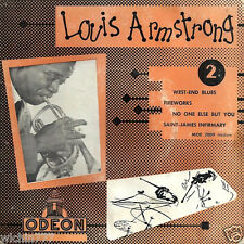 "Louis Armstrong West-End Blues/ Fireworks 7"" 45rpm vinyl France ep record (fair)"