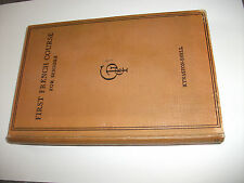 1948, First French Course for Seniors. Conversation & Business. Illustrated.