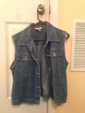 Faded Glory Authentic Wear Jean Vest Size Small