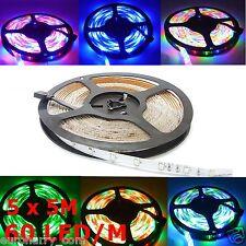 25M RGB LED SMD Band Streifen Lichterkette Stripe Leiste +Fernbedienung Netzteil