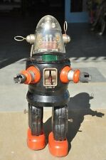 Rare Vintage Battery Robby The Robot Litho Tin Toy , Japan