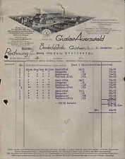GRÜNHAIN i. Sa., Rechnung 1932, Besteck-Fabrik Gustav Auerswald