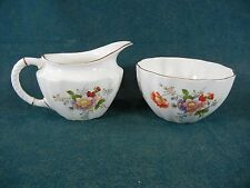 Royal Crown Derby Derby Posies Large Creamer and Open Sugar Bowl Set