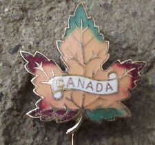 Large Canada Maple Leaf Autumn Colours Fall National Canadian Flag Pin Badge