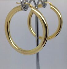 WIDE-9ct Gold Hoop Earrings- Uk Hallmark 3.6g  (38mm X 4mm )RRP £159