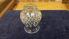 "Vintage Cut Crystal Glass Lamp Shade 5""H x 2"" Fitter"