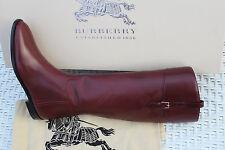 BURBERRY COPSE BORDEAUX  KNEE HIGH BOOTS #7us $1095