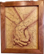Wedding Guest Book Alternative Wood Puzzle Together Forever Tree Hand n Hand 75p
