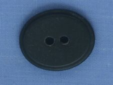 22mm Black Oval 2 Hole Button