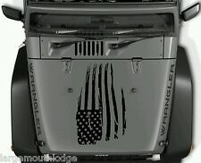 WEATHERED AMERICAN FLAG VINYL GRAPHIC DECAL JEEP HOOD FORD CHEVY DODGE