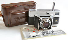 Voigtlander Vitessa 35mm Film Camera w F2 Ultron Lens, Plus Case and Manual