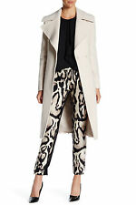 $598 DIANE VON FURSTENBERG NOTCH PANEL MARYANN WOOL BLEND COAT SIZE 12
