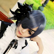 Fashion Black Butler Ciel Phantomhive Blue Gray Short Anime Costume Cosplay Wigs