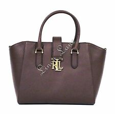 RALPH LAUREN Carrington Bethany Shopper BROWN Leather Tote PURSE Med NWT $248