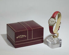 Vintage 375 9ct Gold Rotary Ladies Watch Swiss Made Original Box