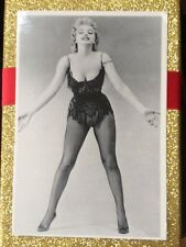 MARILYN MONROE 80s POSTCARD 1956 Bus Stop publicity in saloon costume World