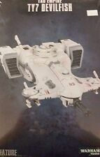 Warhammer 40K TAU EMPIRE TY7 DEVILFISH Skimmer Troop Transport Grav-Tank, New