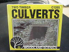 Woodland Scenics HO-scale Plaster Culverts (pkg of 2) - C1265 Wood Timber