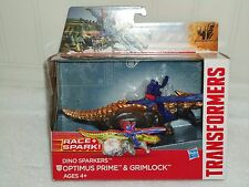 NEW TRANSFORMERS DINO SPARKERS RACE + SPARK OPTIMUS PRIME & GRIMLOCK