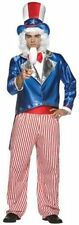 Uncle Sam Costume Adult 4th Of July Independence Day Deluxe Patriotic - Fast -