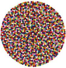 Myfelt Lotte 70 cm alfombra de diseño alrededor del 100% lana bola de fieltro alfombra de niños alfombra