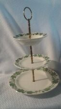 Royal China 3 tier tidbit tray/candy/server dish Currier and Ives English ivy
