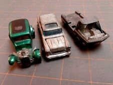 """3 Vintage Hot Wheels Redline '32 Ford Vicky """"55"""" Chevy Nomad, 1969 Heavy Weight"""