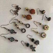 Lot Of 7 Costume Earrings Vintage Modern Pierced - Variety Dangle