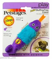 Petstages Petite Suffing Free Lizard Plush Dog Toy Random Colors