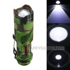 1200lm 7W CREE Q5 LED Zoomable Mini Flashlight Torch Tactical Lamp Light 1 Mode