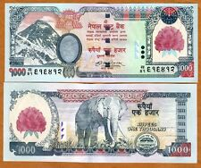 Nepal, 1000 Rupees, (2008), Pick 67 (67b), UNC   Rhododendron Overprint