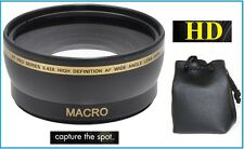 Hi Def 0.43x Wide Angle With Macro Lens For Panasonic Lumix DMC-FZ300 DMC-FZ200