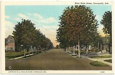 West Main Street in Paragould AR Postcard